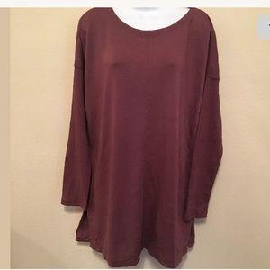 NWT Lou & Grey Large Purple long sleeve Shirt (p)